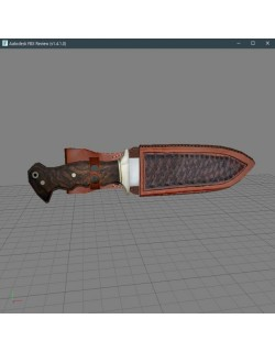 low poly knife(hançer)