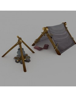 low poly tent