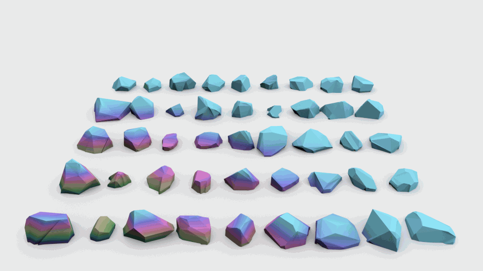 Lowpoly stones - pack 3 3D Model for Download