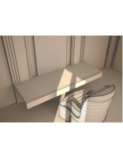 makeup desk 3ds max model 3D model