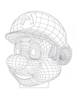 Mario 3d illusion vector file