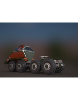 MAZ3 CONCEPT all-terrain vehicle tractor unit 3D model