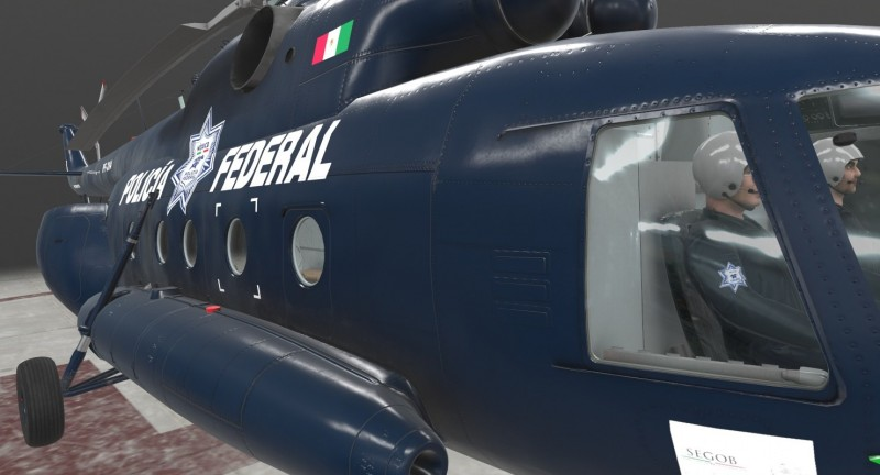 Mi-17 Mexican Police Animated