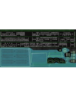Mi-8MT Mi-17MT Right Circuit Console Russian