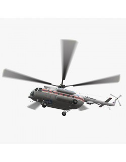 Mi-8MTV Russian Emercom Animated