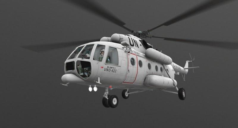 Mi-8MTV United Nations Animated