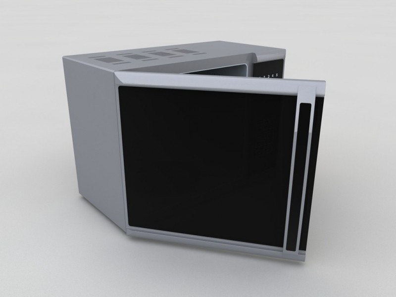 Microwave oven 3D Model for Download