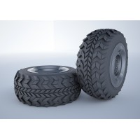 military vehicle tire 3d model 3D model