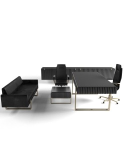 Modern Office Furniture Black Gold best quality (boss room)