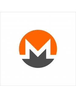 Monero coins 2D vector drawing logo