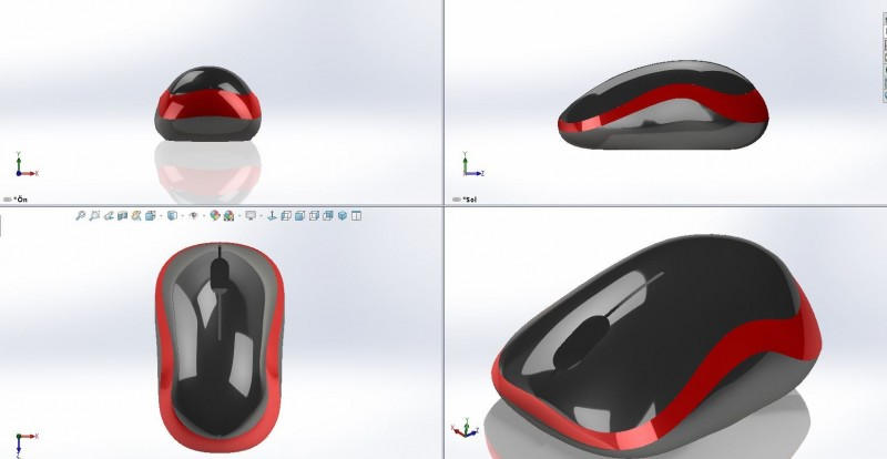 mouse surface
