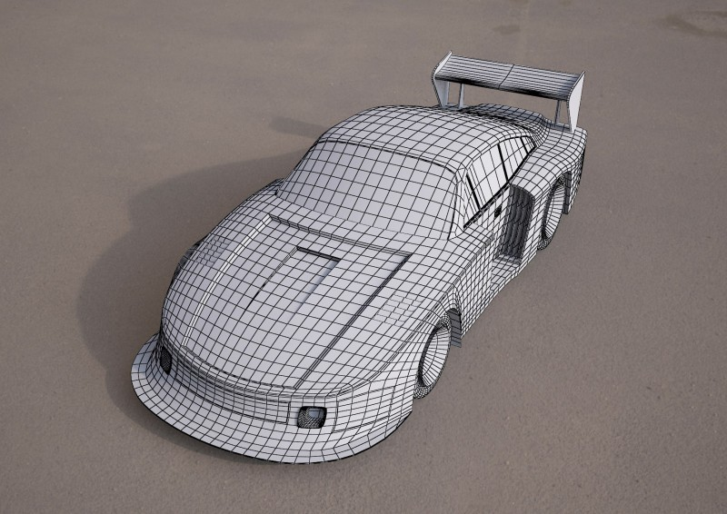 nascar racing vehicle 3d model 3D model