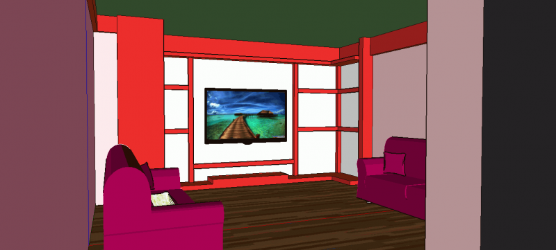 Oda ve TV Ünitesi - Room and TV Unit