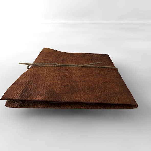 old leather folder