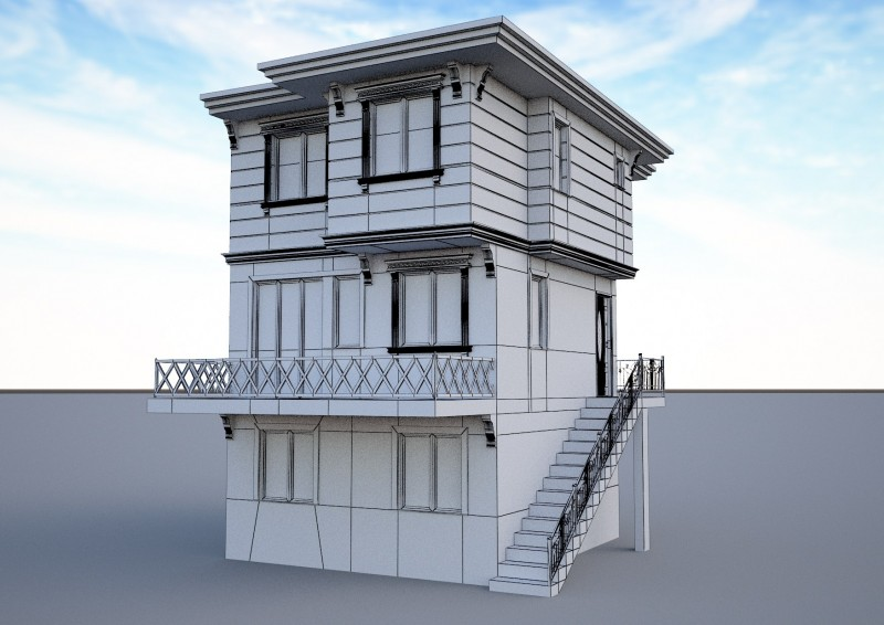 Ornate building 3d model 6 3D model