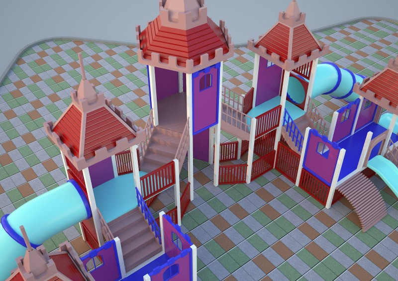playground 3ds max model 3D model