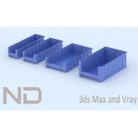 RACK FLOW MATERIAL BOXES - 2 (40cm)