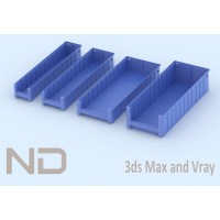 RACK FLOW MATERIAL BOXES - 4 (60cm)