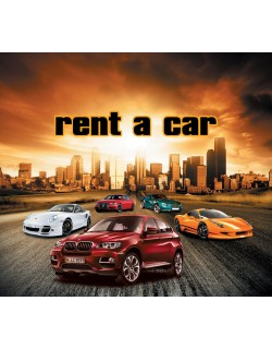 rent a car design 200x180 cm