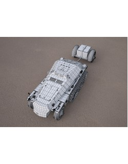 Replica SDKFZ 250 military vehicle 3d model 3D model