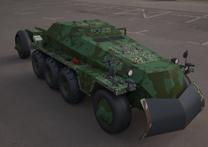 Replica SDKFZ 250 military vehicle 3d tire model 3D model