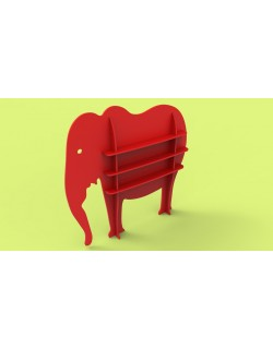 Shelf animal elephant 3d model