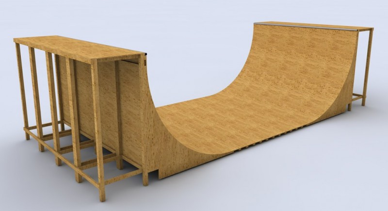 how to build a halfpipe skateboard ramp