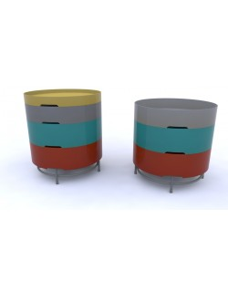 Storage table, multicolor