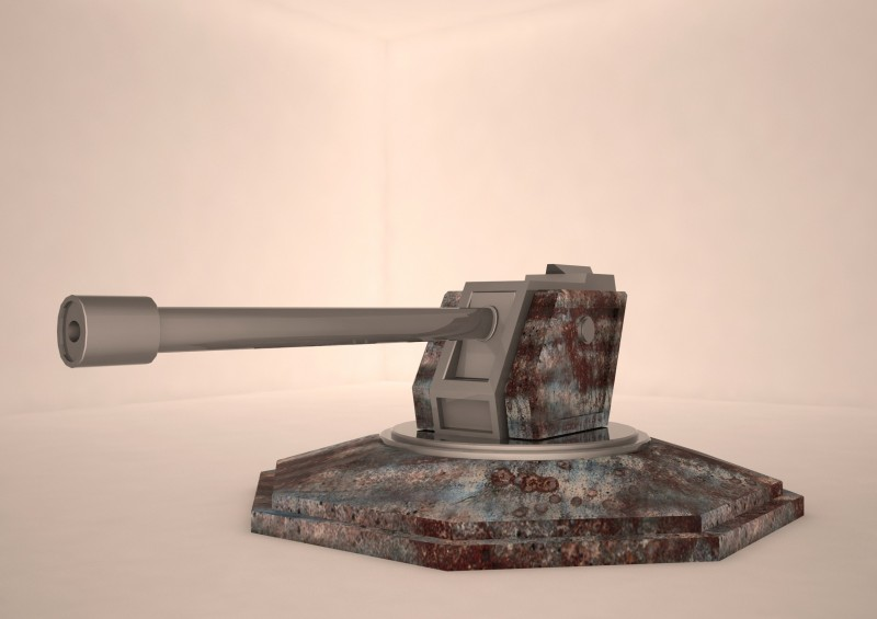 tank weapon 3d model Low-poly 3D model