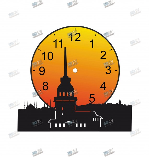 The Maiden's Tower Drawing Table Or Wall Clock