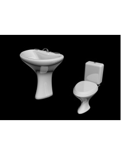 toilet bowl sink 3d model Free 3D model