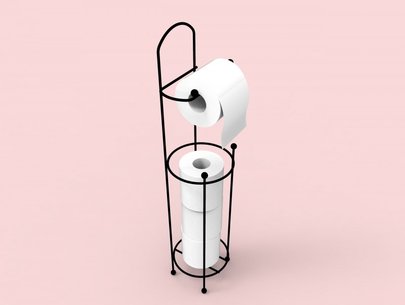 Toilet Paper Holder Stand