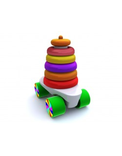 Toy car pyramid