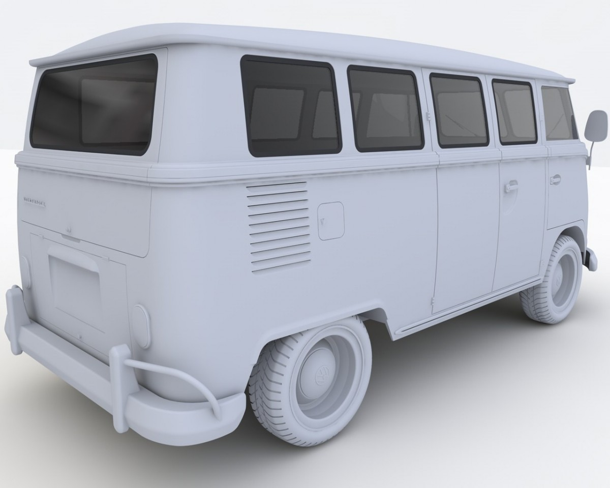 Volkswagen t1 deluxe bus 3d model 3D Model for Download