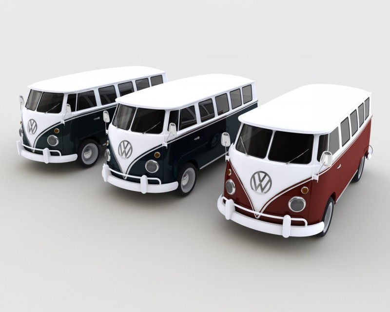 Volkswagen T1 Deluxe Bus 3D Model