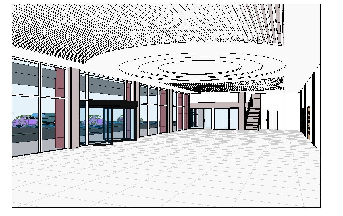 Wedding hall project revit and max 3D Model for Download
