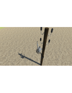 Wood Electric Pole