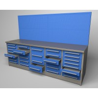 Workbench - 32 drawers 3D model