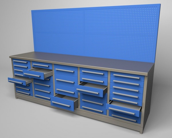 Workbench 32 Drawers 3d Model 3d Model For Download