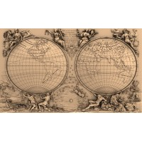 world map relief