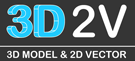 3D2V - 3D Model or 2D Vector Buy and Sell Market Place